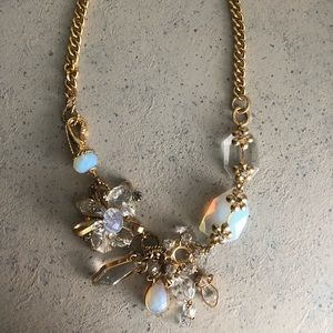 Jewelry - Gold Necklace with Blue Stone Detail